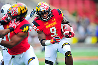 Trey Edmunds of the Terrapins finds some running room. behind his blockers. Maryland routed Howard 52-13 during home season opener at Capital One Field in College Park, MD on Saturday, September 3, 2016.  Alan P. Santos/DC Sports Box