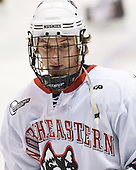 Garrett Vermeersch (Northeastern - 9) - The visiting Niagara University Purple Eagles defeated the Northeastern University Huskies 4-1 on Friday, November 5, 2010, at Matthews Arena in Boston, Massachusetts.