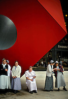 Mennonites near Ground Zero during a 9/11 memorial