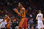 MILWAUKEE, WI - MARCH 18: Iowa State Cyclones guard Monte Morris (11) celebrates a play during the first half of the 2017 NCAA Men's Basketball Tournament held at BMO Harris Bradley Center on March 18, 2017 in Milwaukee, Wisconsin. (Photo by Jamie Schwaberow/NCAA Photos via Getty Images)