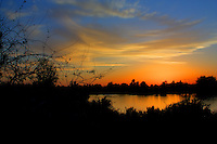 Sunset at the Riparian preserve, Gilbert, Arizona