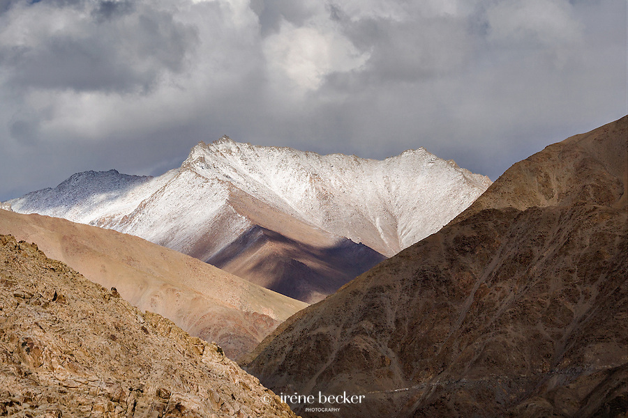Landscape of Ladakh as seen from the  Chemrey  Monastery or Chemrey   Gonpa,  Leh, Jammu and Kashmir,  India