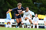 28 October 2012: Virginia's Danielle Colaprico (24) and UNC's Ranee Premji (CAN) (10). The University of North Carolina Tar Heels played the University of Virginia Cavaliers at Fetzer Field in Chapel Hill, North Carolina in a 2012 NCAA Division I Women's Soccer game. Virginia defeated UNC 1-0 in their Atlantic Coast Conference quarterfinal match.