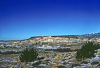Laguna: The Laguna Pueblo, reservation of Native American tribe. (45 miles west of Albuquerque, N.M. ) Panoramic view. Photo '77.
