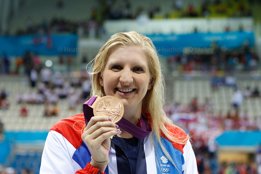 Mcc0041438 . Daily Telegraph..DT Sport.2012 Olympics..Rebecca Adlington wins the Bronze in the Womens 400m Freestyle Final...29 July 2012.