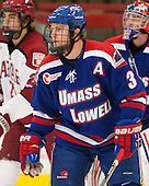 Chad Ruhwedel (UML - 3) - The visiting University of Massachusetts Lowell River Hawks defeated the Harvard University Crimson 5-0 on Monday, December 10, 2012, at Bright Hockey Center in Cambridge, Massachusetts.