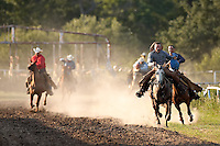 JUNCTION, TX - AUGUST 11, 2007: The Hill Country Fair Association Summer Classic Ranch Rodeo held at the Hill Country Fair Association Fairgrounds in Junction, Texas. (Photo by Jeff Huehn)