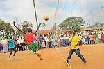 Student volley ball players in Likoni, Kenya