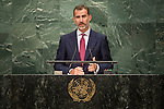 Spain<br /> H.E. Mr. Don Felipe VI<br /> King<br /> <br /> General Assembly Seventy-first session: Opening of the General Debate 71 United Nations, New York