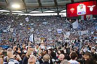 Roma 26/05/2013: Finale coppa Italia di Calcio tra Roma e Lazio. Coppa vinta dalla formazione della Lazio per 1 a 0 gola di Lulic. Nella foto l'Aquila e la Coppa. Foto Adamo Di Loreto/Buenavista*photo