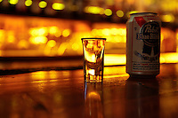 Brooklyn, New York: Keg and Lantern in Brooklyn has a $5 special for a shot of whiskey and a canned beer every day .  (Photo by Danny Ghitis/amNY)