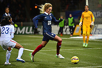 Lorient, France. - Sunday, February 8, 2015:  Kheira Hamaroui (23) of France. France defeated the USWNT 2-0 during an international friendly at the Stade du Moustoir.