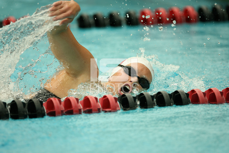 28 October 2005: Anna Strohl during Stanford's swim meet against the University of Texas at the Avery Aquatic Center in Stanford, CA.