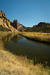 Crooked River flowing through Smith Rock State Park near Redmond, Oregon