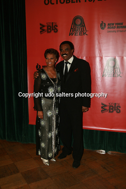 Honoree and Legendary Dionne Warwick and Singer Chuck Jackson attend the HISTORIC CELEBRATIONS GALA AND DANCE, a benefit saluting the anniversaries of HARLEM WEEK, New York City Marathon and WBLS-FM at the Great Hall of The City College of New York at 138th Street on Convent Avenue, New York