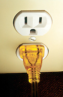 HOUSEHOLD ELECTRICITY<br /> Electrical Plug In Outlet<br /> Ungrounded