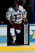 Andrew Orpik (Boston College - East Amherst, NY) heads onto the ice prior to the first period. The Michigan State Spartans defeated the Boston College Eagles 3-1 (EN) to win the national championship in the final game of the 2007 Frozen Four at the Scottrade Center in St. Louis, Missouri on Saturday, April 7, 2007.
