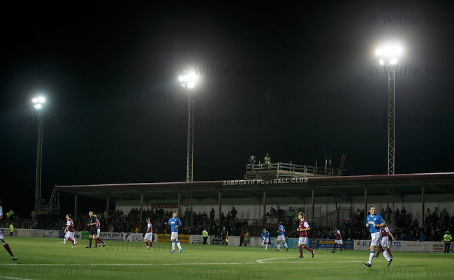 Chilly monday evening at Gayfield Park