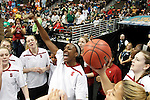 01 APRIL 2012:  Nnemkadi Ogwumike (30) of Stanford University pumps up her team prior to their game against Baylor University during the Division I Women's Final Four semifinals at the Pepsi Center in Denver, CO.  Baylor defeated Stanford 59-47 to advance to the championship final.  Jamie Schwaberow/NCAA Photos