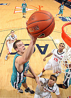 Virginia beat UNC Wilmington 69-67 Monday Jan. 18, 2010 in Charlottesville, Va. UNC Wilmington's Matt Wilson (Photo/The Daily Progress/Andrew Shurtleff)