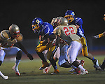 Oxford High's Jarius Barnes (1) vs. Lafayette High at Bobby Holcomb Field in Oxford, Miss. on Thursday, August 30, 2012. Oxford High won 19-0.