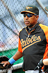 19 June 2011: Baltimore Orioles' Bench Coach Willie Randolph watches batting practice prior to a game against the Washington Nationals at Nationals Park in Washington, District of Columbia. The Orioles defeated the Nationals 7-4 in inter-league play, ending Washington's 8-game winning streak. Mandatory Credit: Ed Wolfstein Photo