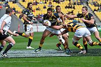 ITM Cup rugby match between Wellington Lions and Taranaki at Westpac Stadium, Wellington, New Zealand on Sunday, 14 October 2012<br /> Photo by Masanori Udagawa<br /> www.photowellington.com