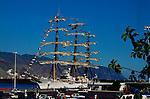 Three masted schooner, Santa Cruz,Tenerife, Canary Islands, Spain