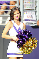 SEP 12, 2015:  University of Washington cheerleader Kristin Wear vs Sacramento State at Husky Stadium in Seattle, Washington. Washington won over Sacramento State.