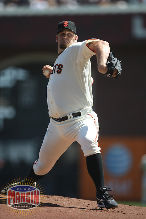 SAN FRANCISCO - SEPTEMBER 7:  Brad Penny #31 of the San Francisco Giants pitches against the San Diego Padres during the game at AT&T Park on September 7, 2009 in San Francisco, California. Photo by Brad Mangin