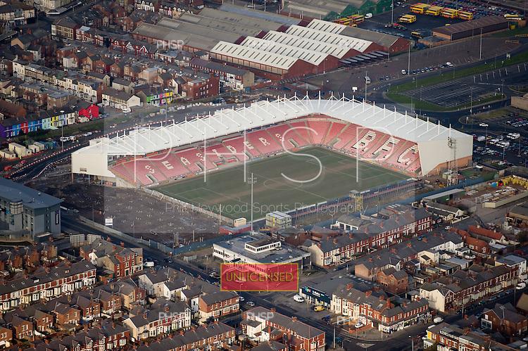 Blackpool FC's Bloomfield Stadum