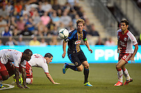 Brian Carroll (7) of the Philadelphia Union during a Major League Soccer (MLS) match against the Portland Timbers at PPL Park in Chester, PA, on July 20, 2013.