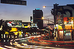 View of the sunset Strip looking west at sunset., circa 2003
