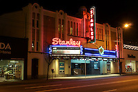 The Stanley theatre in Vancouver, BC, Canada. This Moorish style enterior art deco theater is one of the last surviving neighbourhood theaters in Vancouver. Today it is a live theater called, Stanley Industrial Alliance Stage.