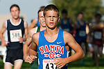 Nampa junior Trace Carson during the Roger Curran Invitational varsity race at West Park in Nampa, Idaho on September 8, 2012. Carson placed tenth in the 4A-5A division with a time of 17:37.39.