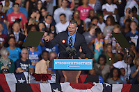 FT LAUDERDALE, FL - NOVEMBER 01: Marty Kiar, Mayor of Broward County speak before Democratic presidential nominee Hillary Clinton to a crowd of 4,300 supporters during a campaign rally at Reverend Samuel Delevoe Memorial Park on November 1, 2016 in Ft Lauderdale, Florida. The presidential general general election is November 8.  Credit: MPI10 / MediaPunch