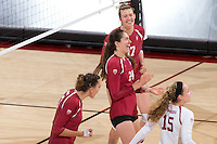 Stanford Volleyball W vs San Diego, August 26, 2016