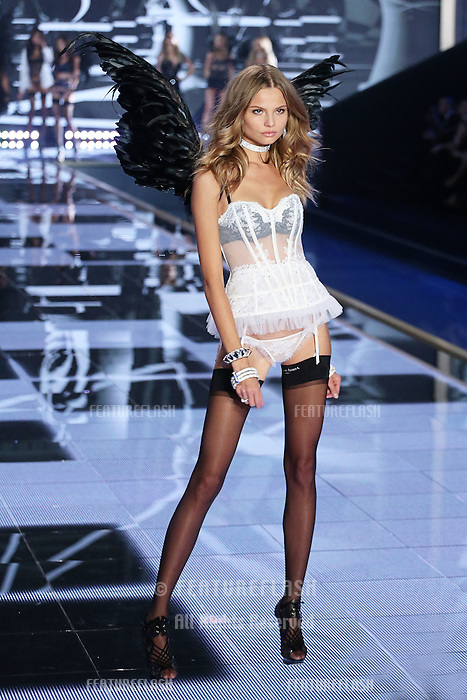 Magdalena Frackowiak on the runway at the Victoria's Secret Fashion Show 2014 London held at Earl's Court, London. 02/12/2014 Picture by: James Smith / Featureflash