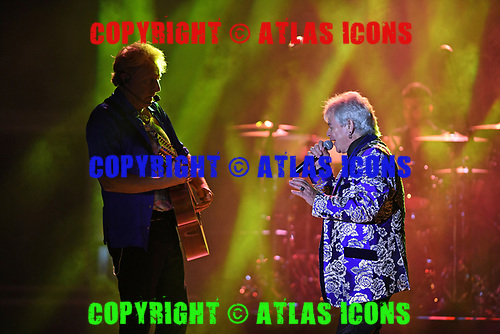 MIAMI, FL - MARCH 25: Graham Russell and Russell Hitchcock of Air Supply perform at The Magic City Casino on March 25, 2017 in Miami, Florida. Credit Larry Marano © 2017