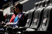 A view of the new player seating area during a practice at Red Bull Arena in Harrison, NJ, on March 16, 2010.