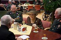Queen Beatrix of the Netherlands visited Bronbeek in Arnhem - Netherlands