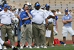 19 April 2008: Duke University football head coach Dave Cutcliffe (l) with associate head coach Ron Middleton (r). The Duke University Blue Devils played their annual Blue White Spring Football Game at Wallace Wade Stadium in Durham, NC.