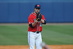 Ole Miss pitcher Austin Wright vs. Wright State at Oxford University Stadium in Oxford, Miss. on Sunday, February 20, 2011. Ole Miss won 6-5 to improve to 3-0 on the season.