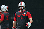 09 May 2015: Ohio State's Brendan Barger. The Duke University Blue Devils hosted the Ohio State University Buckeyes at Koskinen Stadium in Durham, North Carolina in a 2015 NCAA Division I Men's Lacrosse Tournament First Round match. Ohio State won the game 16-11.