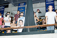 People watch as Democratic presidential nominee Hillary Clinton speaks at a campaign rally in the Theodore R. Gibson Health Center at Miami Dade College-Kendall Campus in Miami, Florida, USA. Former Vice President Al Gore also spoke at the rally.