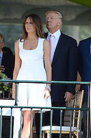 PALM BEACH, FL - JANUARY 06: Melania Trump and Donald Trump attend the 2013 Trump Invitational Grand Prix at Club Mar-a-Lago on January 6, 2013 in Palm Beach, Florida. Credit: mpi04/MediaPunch