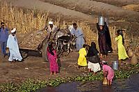 Afrique/Egypte: Scènes de vie sur les bords du Nil - Lessive