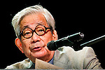 11/03/2011 - Medford/Somerville, Mass. -Kenzaburo Oe, Japanese novelist, essayist & winner of the 1994 Nobel Prize for literature, engages in a conversation with Tufts on Thursday, November 3, 2011.  (Alonso Nichols/Tufts University)