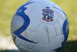 The official 2006 NCAA Division I Men's College Cup match ball on Sunday, November 26th, 2006 at Koskinen Stadium in Durham, North Carolina. The University of California Los Angeles Bruins defeated the Duke University Blue Devils 3-2 in sudden death overtime in an NCAA Division I Men's Soccer Championship quarterfinal game.