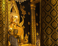 Phra Phut Chin Rat at Wat Phra Sri Rattana Mahathat Temple, Phitsanulok, Thailand, (The Most Beautiful Buddha Statue in Thailand)